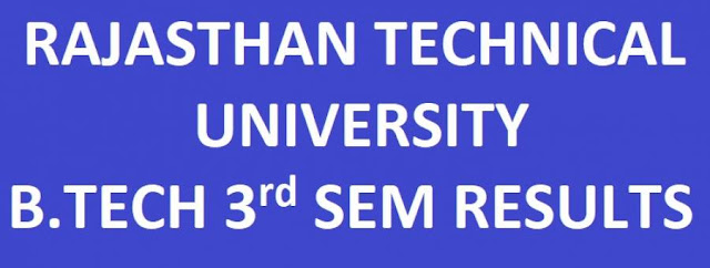 RTU B.Tech 1st Semester Results