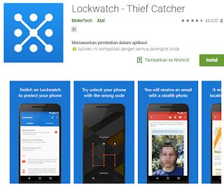 Aplikasi foto wajah maling terbaik untuk android - Lockwatch