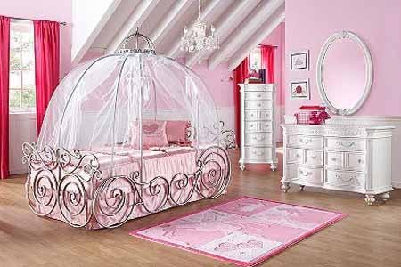 Desain R Tidur Bayi Perempuan Elok Warna Pink