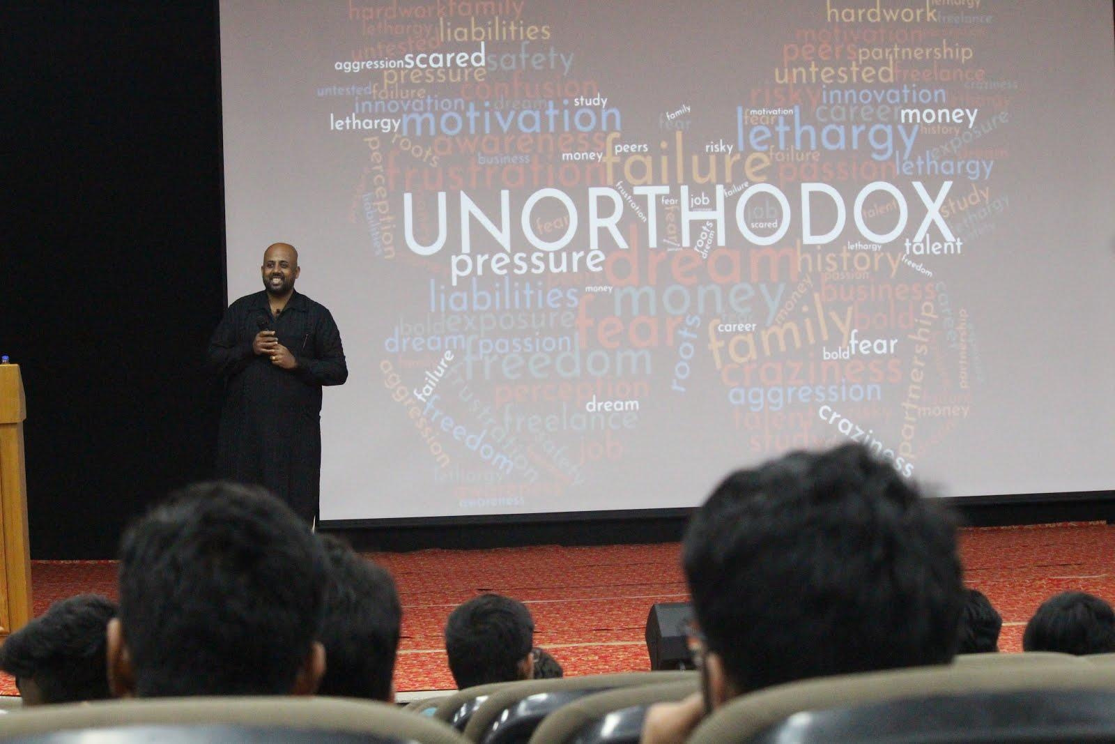 Sankara talking about Unorthodox career options at IIT Jodhpur Entrepreneurship Event
