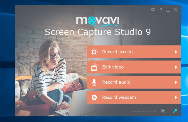 Movavi Screen Capture Studio Starting Interface