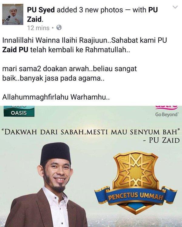 innalillah pu zaid meninggal dunia! blog viral sotong kicap!