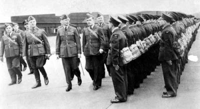 Polish 301 Bombing Division - inspected by King George VI and General Sikorski
