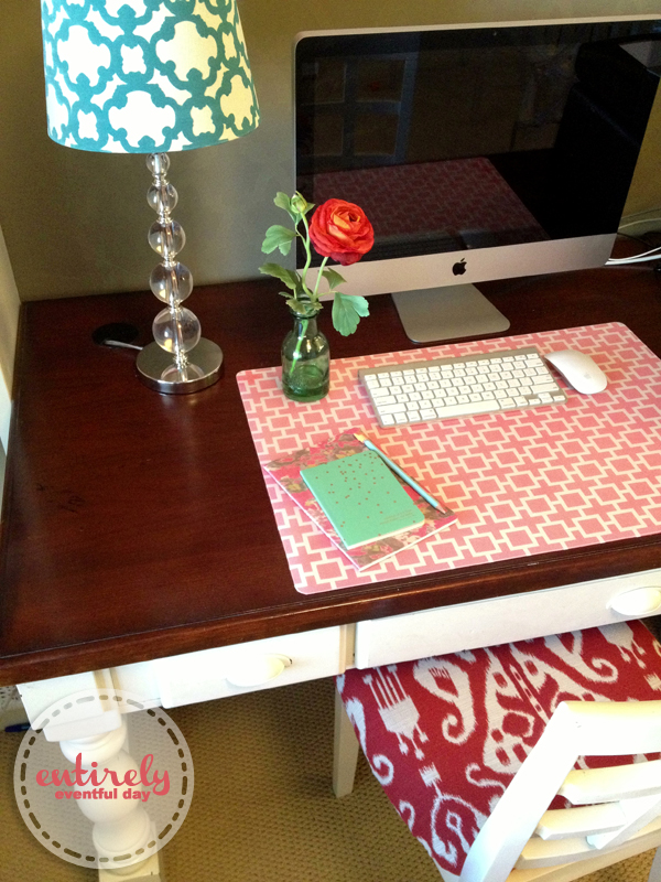 Super Quick And Easy Way To Create A Custom Desk Pad My Office Needs This