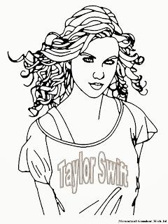 Mewarnai Gambar Taylor Swift Mewarnai Gambar