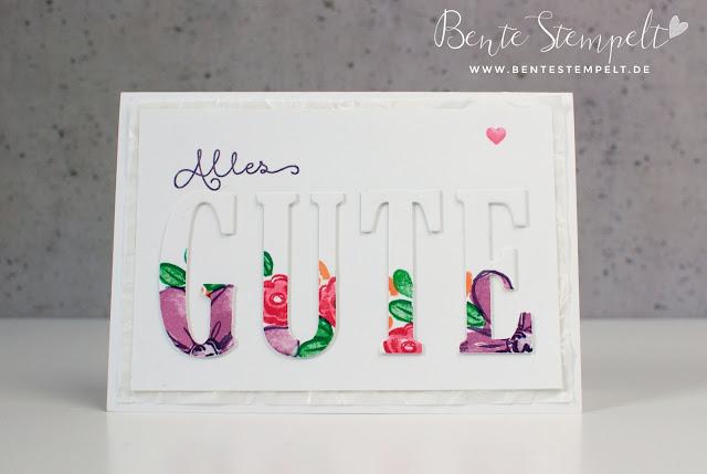 Stampin Up Thinlits Dies Big Shot Alphabet Framelits große Buchstaben ABC 3D thickers Stanzform Garden in Bloom Botanical Blooms In Color 2016