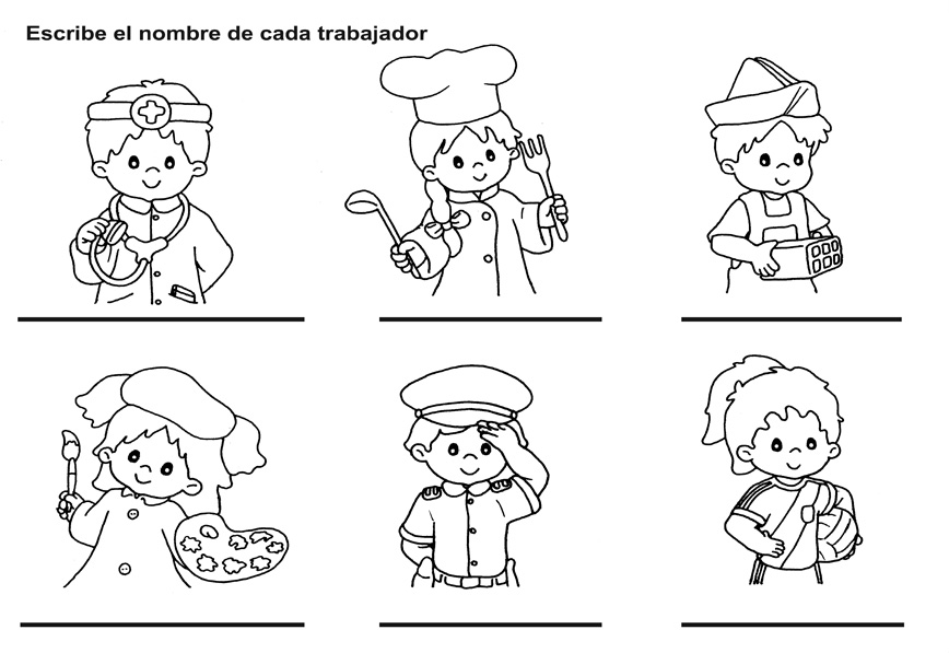 actividades para ninos preescolar sobre servidores