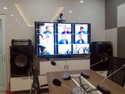 mô hình phòng họp triển khai thiết bị hội nghị truyền hình AVer