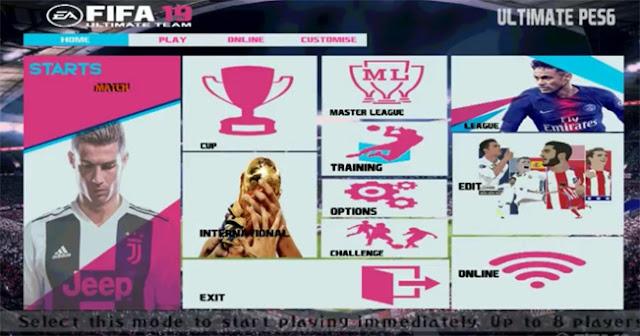 FIFA 19 Graphic Menu For PES 6 - Micano4u   PES Patch   FIFA