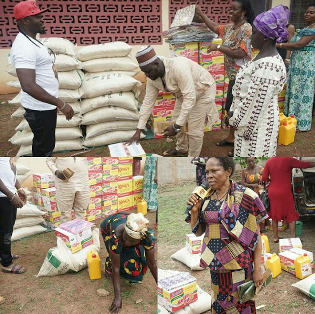 Singer Flavor Showers Gifts on Enugu Widows (Photos)