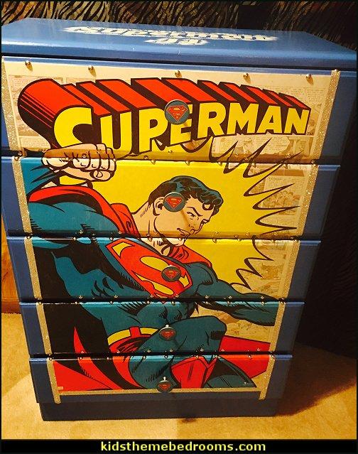 Superman - superman decor - super hero decor - super heros - kids room decor - kids furniture - childrens furniture