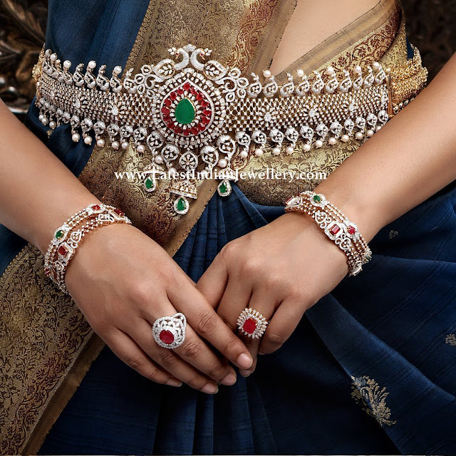 Diamond Vaddanam Bangles From PSS