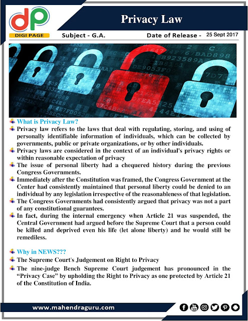 DP | Privacy Law | 25 - Sep - 2017