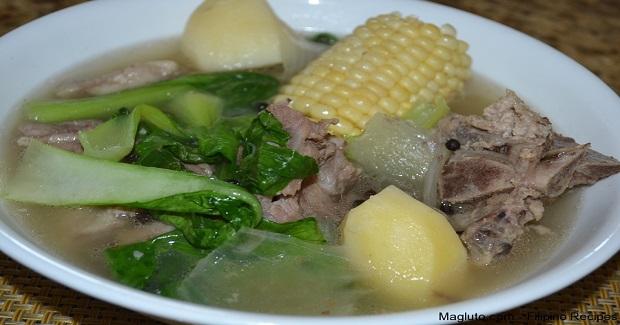 Nilagang Buto-Buto Ng Baboy (Boiled Pork Neck Bone With Vegetables) Recipe