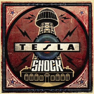 Image of the album cover for Tesla new release Shock