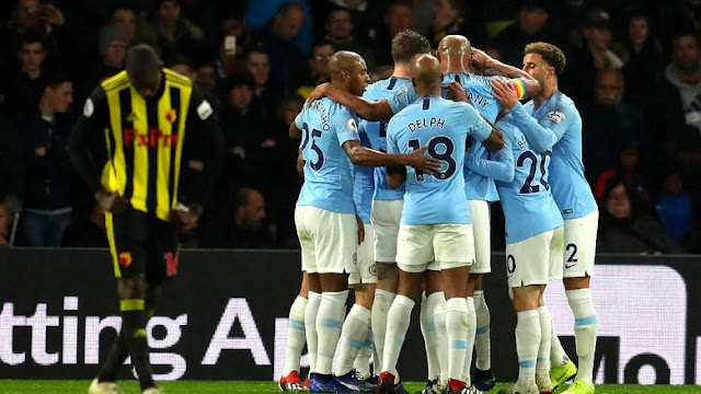 Hasil Liga Inggris: Manchester City Menang di Markas Watford