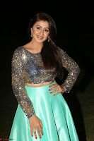 Nikki Galrani in Green Skirt  Top at Marakathamani music launch ~  Exclusive (134).JPG