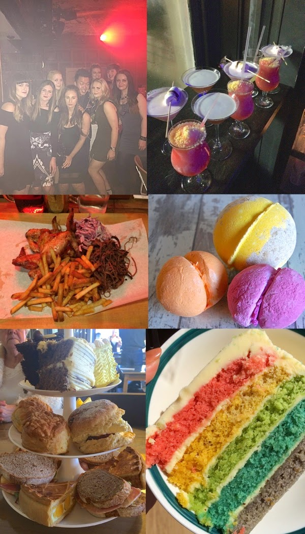 The Running Fox, Rainbow cake, The Pudding Parlour, Lush Cosmetics
