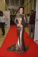 Actress Catherine Tresa in Golden Skin Tight Backless Gown at Gautam Nanda music launchi ~ Exclusive Celebrities Galleries 113.JPG