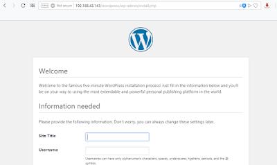 Halaman welcome WordPress