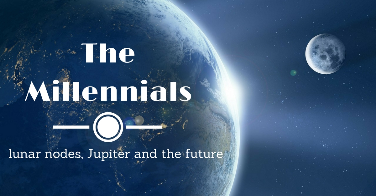 The Millennials of the Capricorn type - lunar nodes, Jupiter