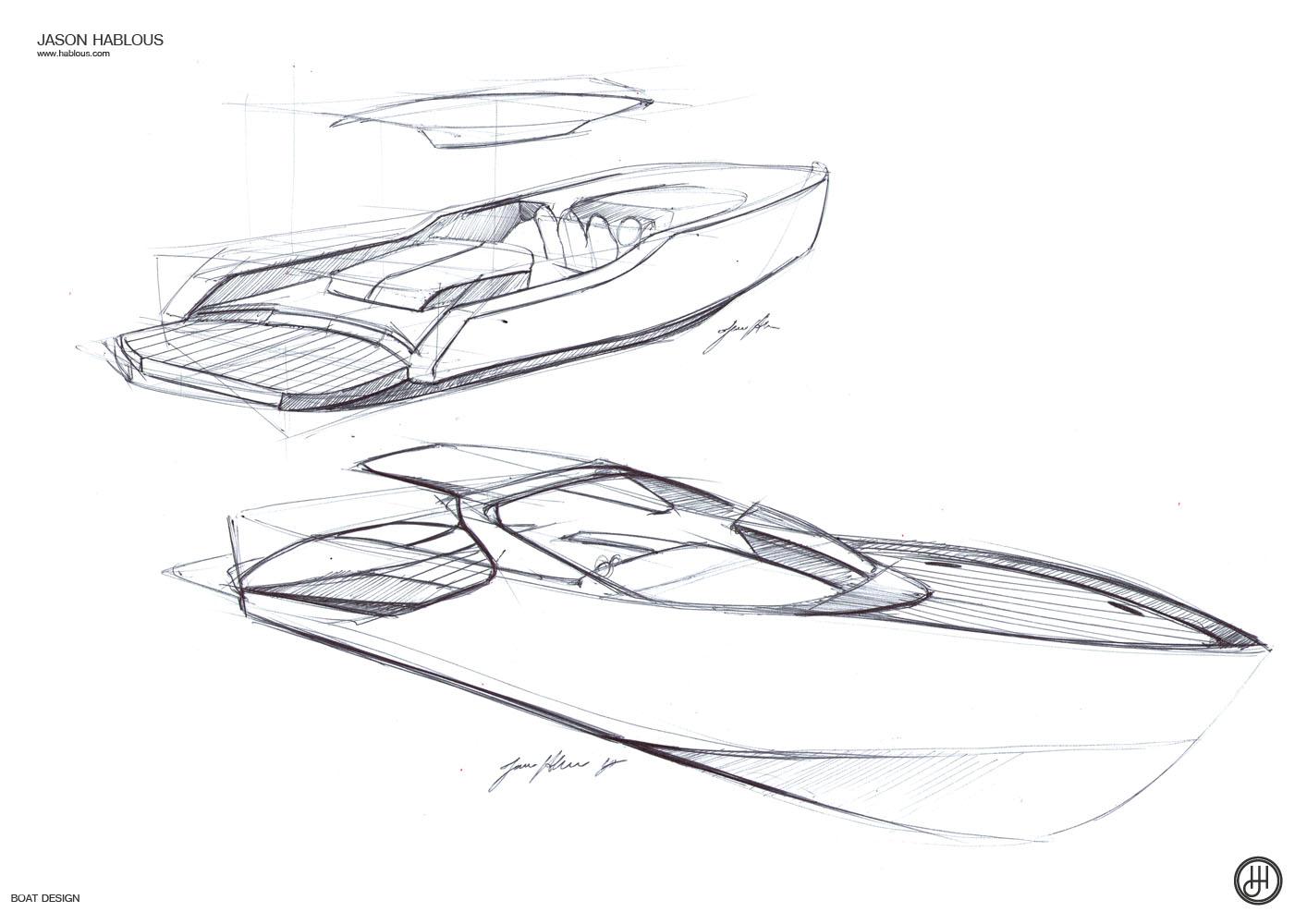 Jason Hablous Design 33ft Weekender Boat Design