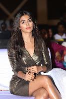 Pooja Hegde looks glamarous in deep neck sleevless short tight golden gown at Duvvada Jagannadham thank you meet function 105.JPG