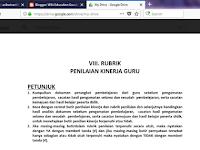 Format Rubrik Instrumen Penilaian Kinerja Guru PK-G