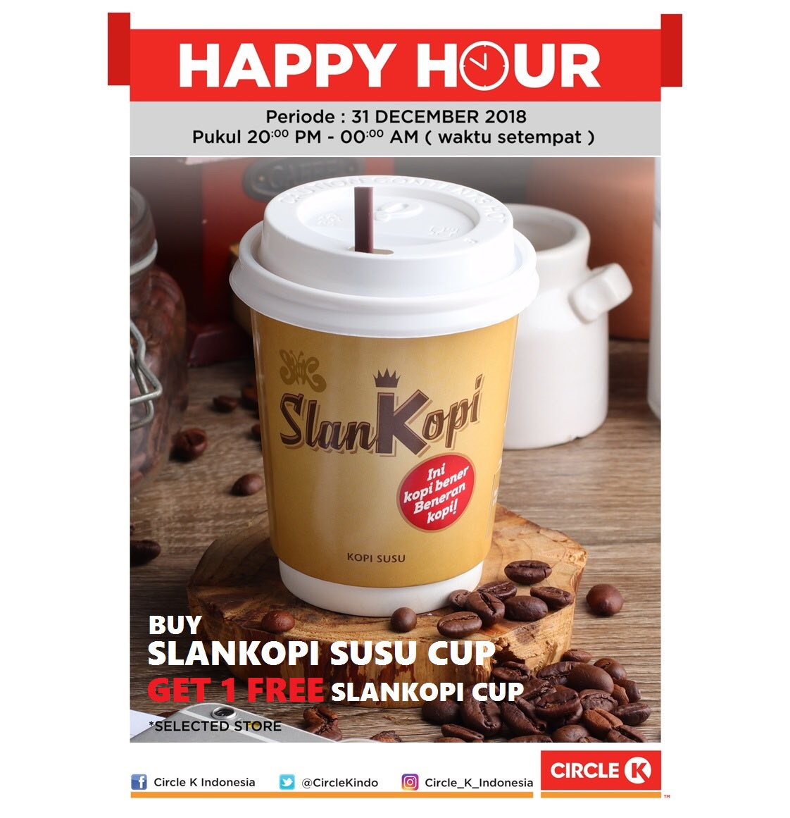 #CircleK - Promo Happy Hour (31 Des 2018)