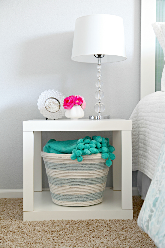 diy rope basket with supplies from dollar tree