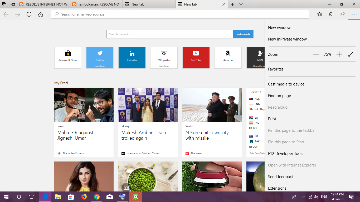 Ashish Yadav: RESOLVE INTERNET NOT WORKING ISSUES