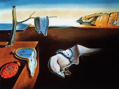 Foto a la pintura Pintura La persistencia de la memoria de Salvador Dalí