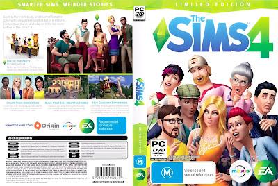 Jogo The Sims 4 PT-BR + DLCs e Expansões PC DVD Capa