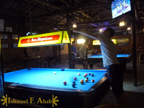 BIlliard pool at KInabuch's Bar and Grill, Purto Princesa City