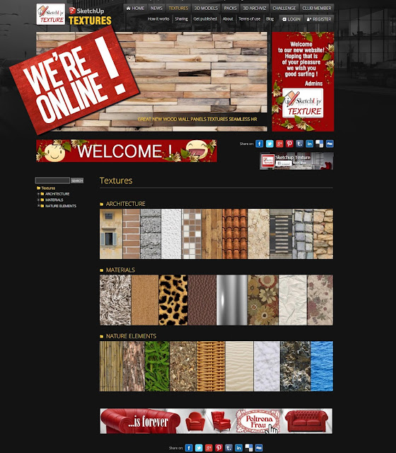 our news website sketchup texture
