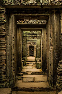 Interior del templo de Preah Khan, o de otro parecido.