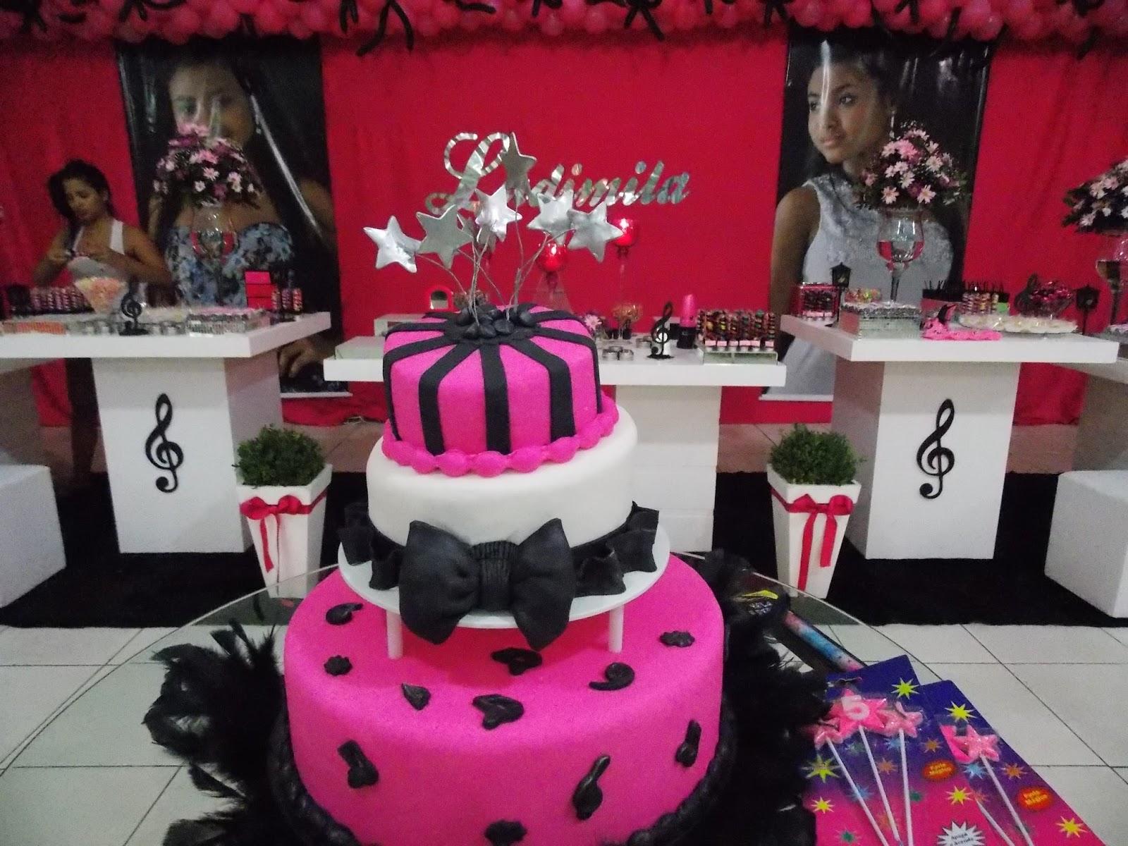 Mesa De Feliz Aniversario Bolo Para Sobrinha Imagens: Você Na Festa: Pink E Preto Teen