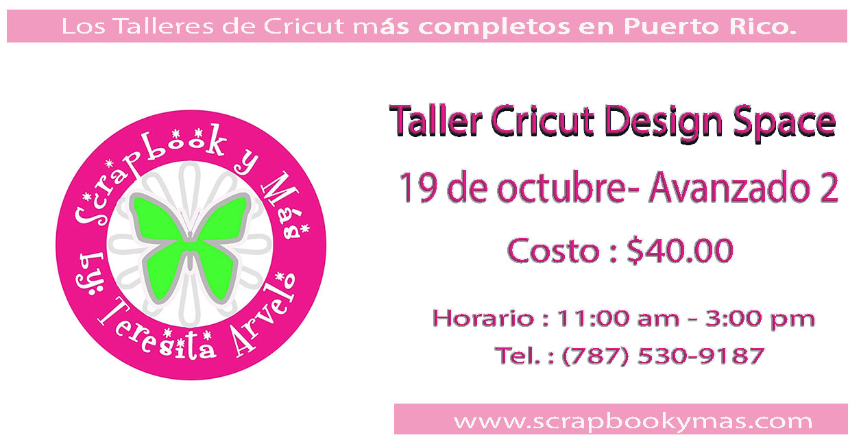 Taller Cricut Design Space Avanzado -2-
