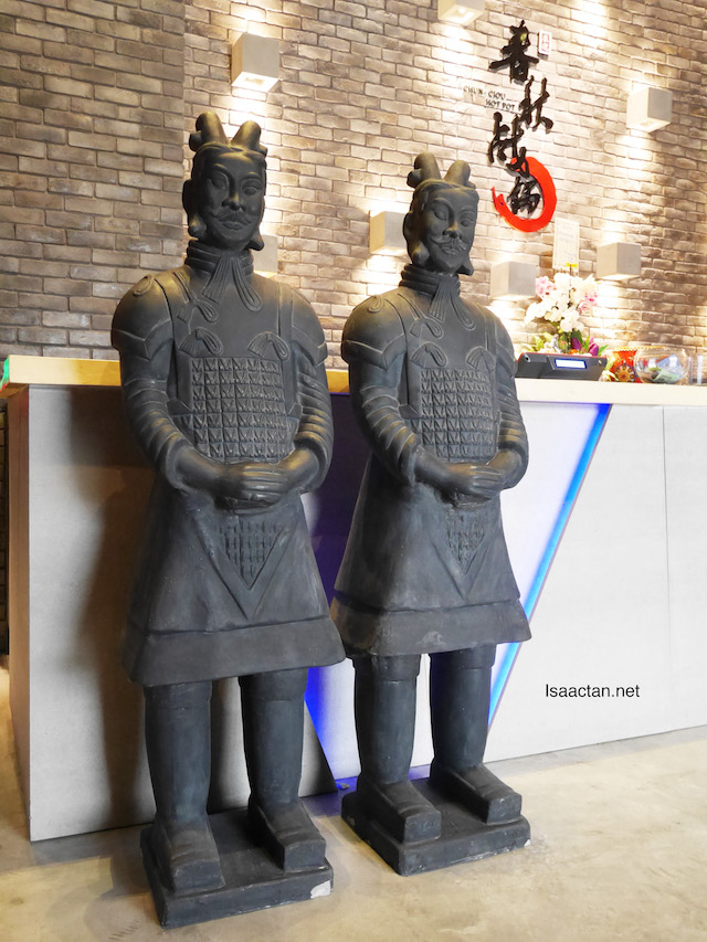 These stone warriors greet you at the entrance