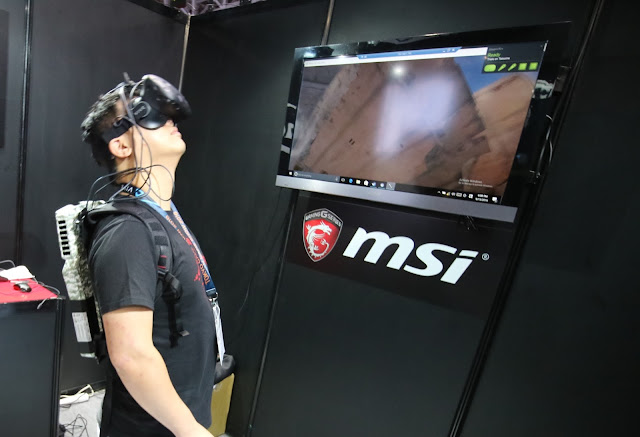 MSI  VR One backpack PC 基本上可以讓使用者在體驗 VR 時進行不受拘束的大動作