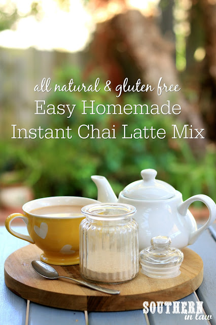 Easy Homemade Instant Chai Latte Mix Recipe - gluten free, paleo, vegan, healthy, clean eating recipe, sugar free