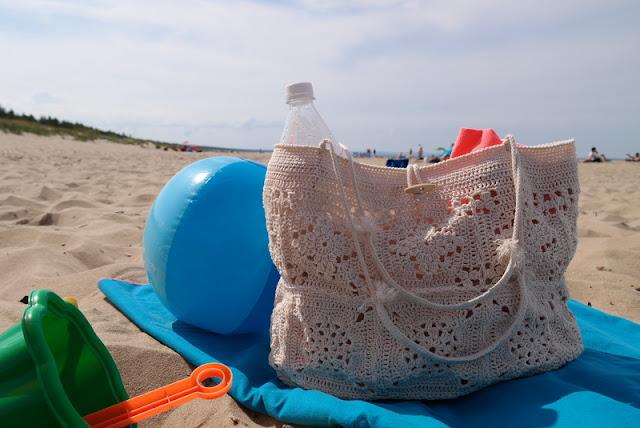 Szydełkowa torba plażowa
