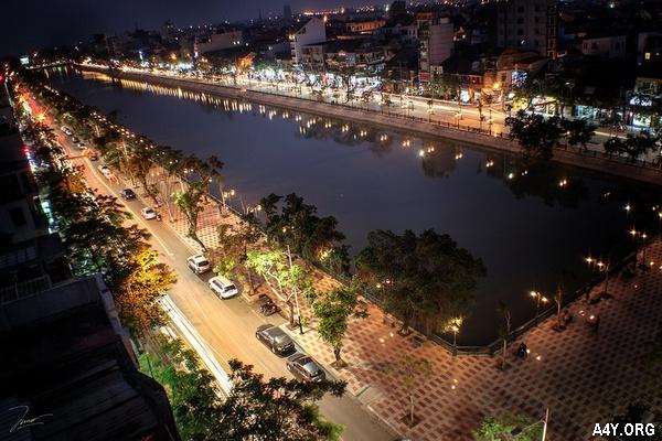 hồ Tam Bạc ở Hải Phòng về đêm
