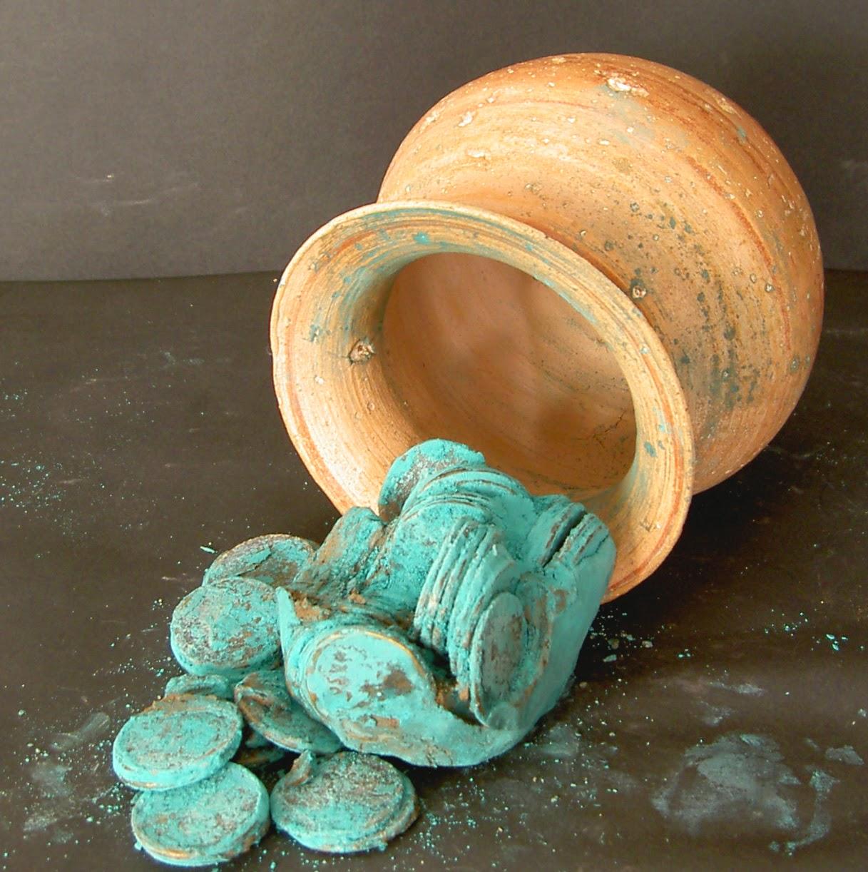 Tesoro romano de monedas de bronce