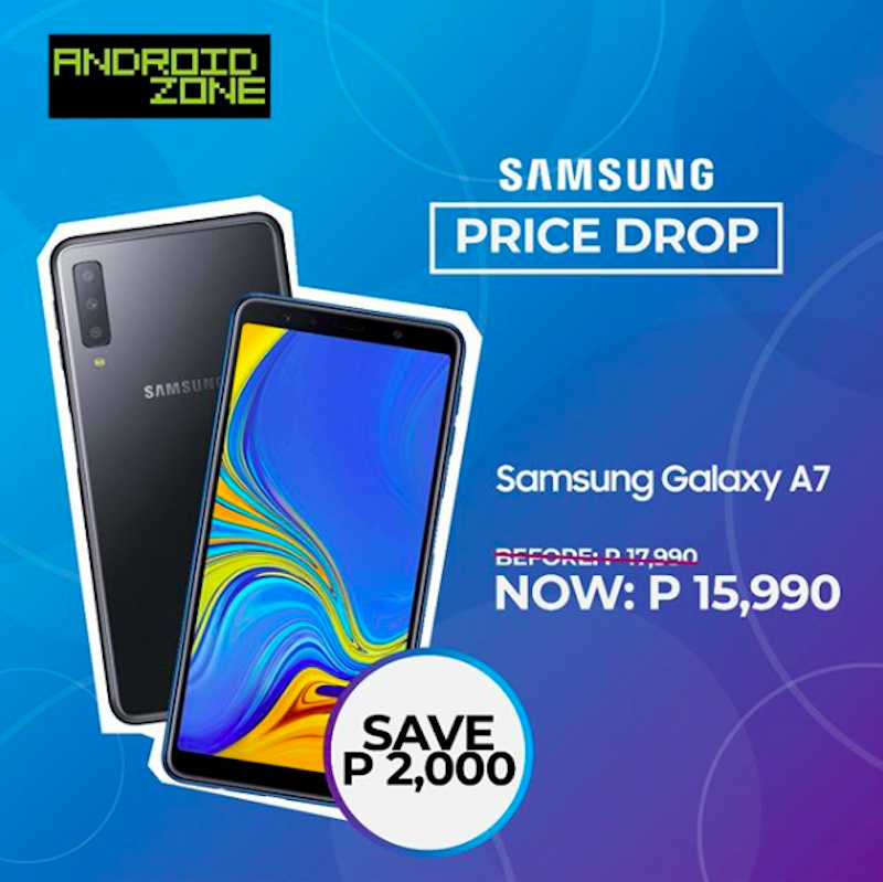 Sale Alert: Samsung Galaxy A7 (2018) is now PHP 2,000 cheaper at Android Zone!