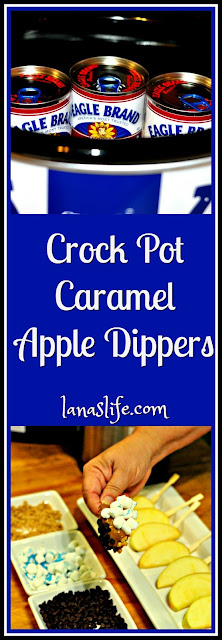 Looking for a great after school snack?  A crisp treat to serve at tailgate gatherings, after ballgames, or at parties around the campfire?  Whether apples are in season or on display at your grocery store, these Crock Pot Caramel Apple Dippers are sure to be a star food on your table.