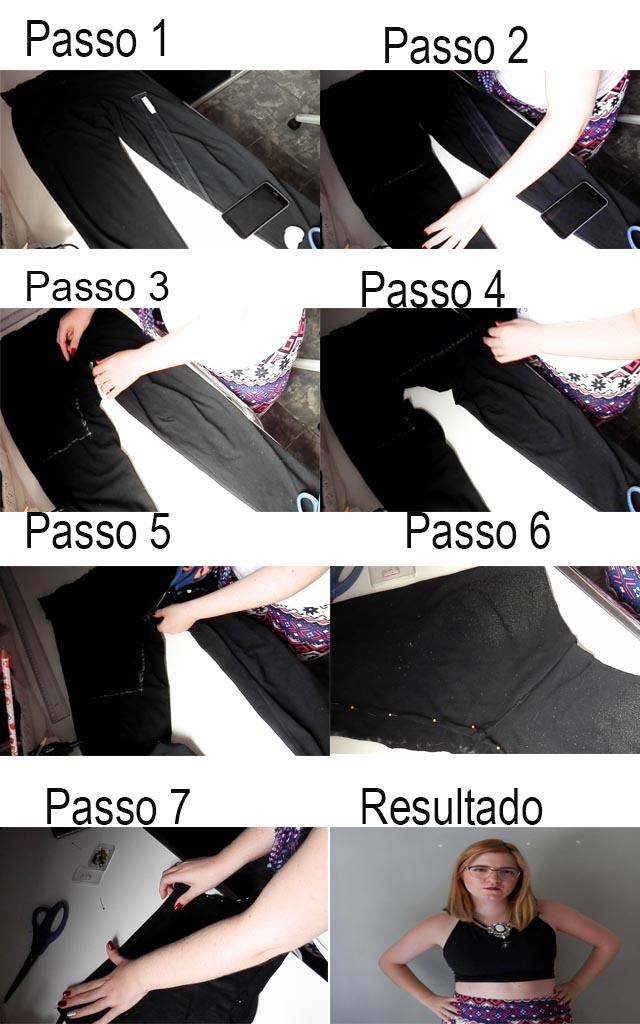 DIY: Como transformar calça legging em cropped
