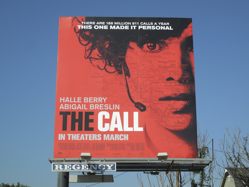 Halle Berry The Call movie billboard