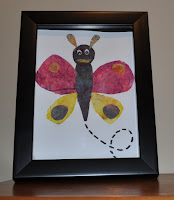 create butterflies with painted tissue paper inspired by Eric Carle