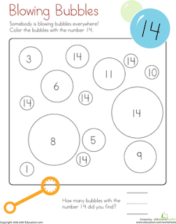 Math Worksheet for kindergarden